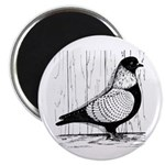 "Starling Pigeon Silver 2.25"" Magnet (100 pack"