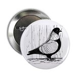 "Starling Pigeon Silver 2.25"" Button (100 pack"