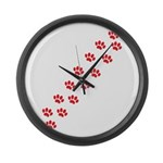 Paw Prints Large Wall Clock