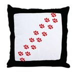 Paw Prints Throw Pillow