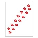 Paw Prints Small Poster