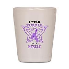 I Wear Purple for Myself Shot Glass