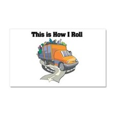 How I Roll (Garbage Truck) Car Magnet 20 x 12