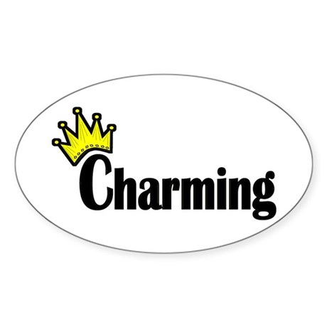 Charming Oval Sticker