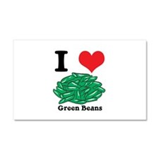 I Heart (Love) Green Beans Car Magnet 20 x 12