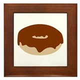 Chocolate donut Framed Tile