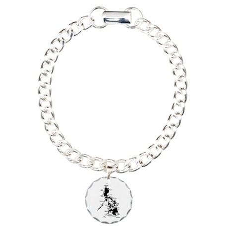 Philippines Rough Map Charm Bracelet, One Charm