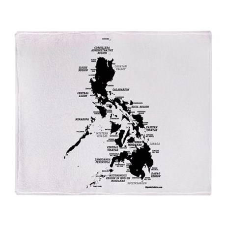 Philippines Rough Map Stadium Blanket