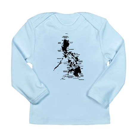 Philippines Rough Map Long Sleeve Infant T-Shirt