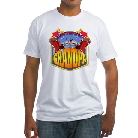 Super Grandpa Fitted T-Shirt
