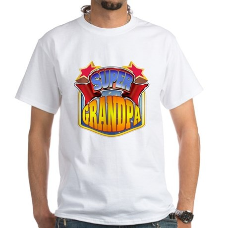 Super Grandpa White T-Shirt