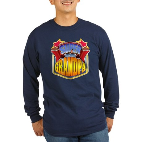 Super Grandpa Long Sleeve Dark T-Shirt
