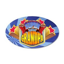 Super Grandpa 22x14 Oval Wall Peel