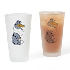 Blue Merle Rough Collie Drinking Glass