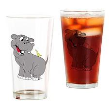 Best Friend Hippo Drinking Glass
