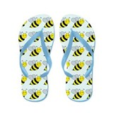 Bees &amp; Flowers Flip Flops