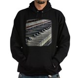 Distressed Vintage Piano Hoodie