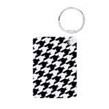 Houndstooth Aluminum Photo Keychain