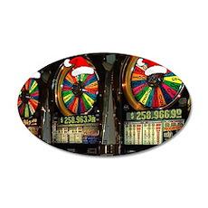 Las Vegas Christmas Slot Mach 38.5 x 24.5 Oval Wal