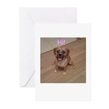 Cute Cute puggle Greeting Cards (Pk of 20)