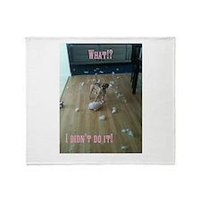 Cute Puggle puppy Throw Blanket