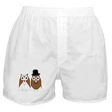 Wedding Owls Boxer Shorts