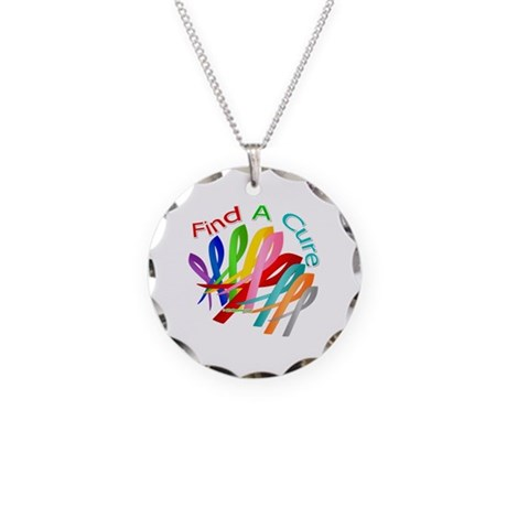 Find A Cure For Everything Necklace Circle Charm