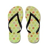 Lots O Dots Sketchy Green Flip Flops