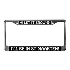Let it Snow... I'll Be in St Maarten! Plate Frame