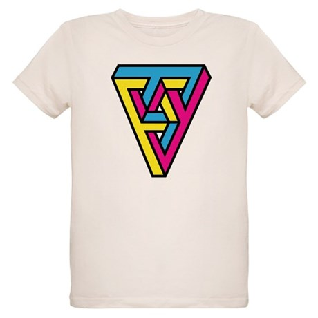 CMYK Triangle Organic Kids T-Shirt