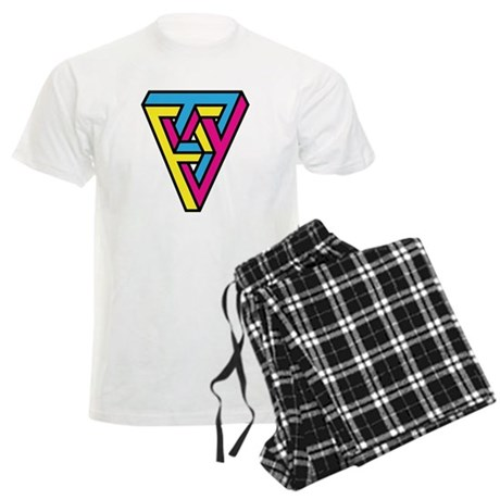 CMYK Triangle Men's Light Pajamas
