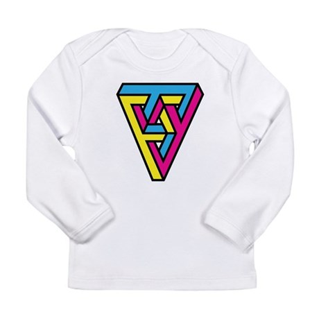 CMYK Triangle Long Sleeve Infant T-Shirt