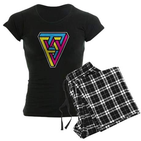 CMYK Triangle Women's Dark Pajamas