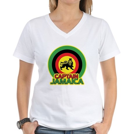 Captain Jamaica Women's V-Neck T-Shirt