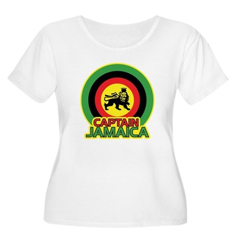 Captain Jamaica Women's Plus Size Scoop Neck T-Shi