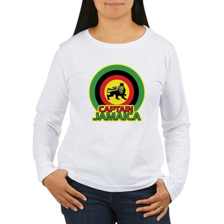Captain Jamaica Women's Long Sleeve T-Shirt