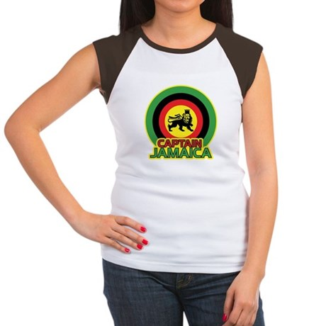 Captain Jamaica Women's Cap Sleeve T-Shirt