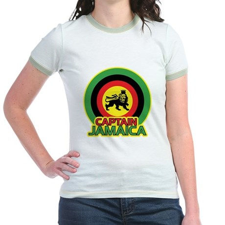 Captain Jamaica Jr. Ringer T-Shirt