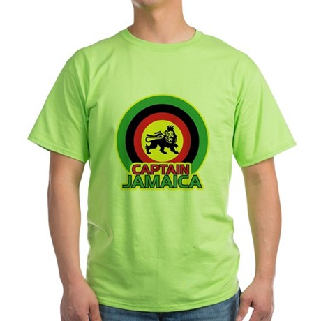 Captain Jamaica Green T-Shirt