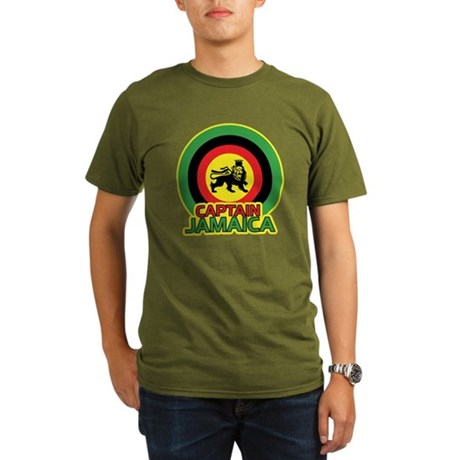 Captain Jamaica Organic Men's T-Shirt (dark)