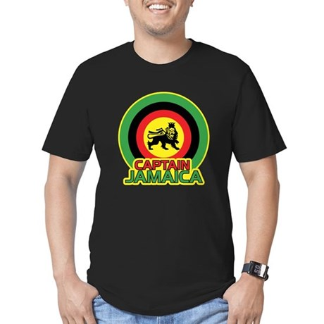 Captain Jamaica Men's Fitted T-Shirt (dark)