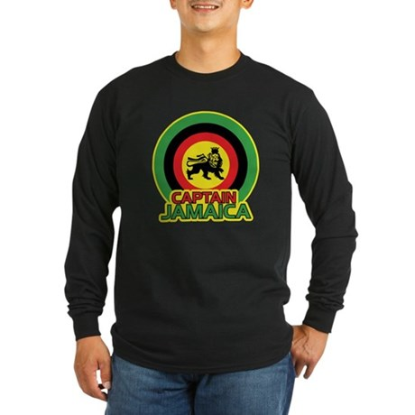 Captain Jamaica Long Sleeve Dark T-Shirt