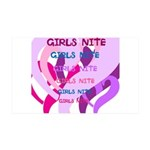 OYOOS girls nite design 38.5 x 24.5 Wall Peel