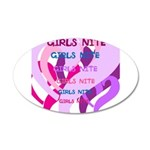 OYOOS girls nite design 38.5 x 24.5 Oval Wall Peel