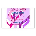 OYOOS girls nite design Sticker (Rectangle 10 pk)