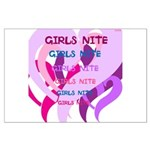 OYOOS girls nite design Large Poster