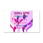 OYOOS girls nite design Car Magnet 20 x 12