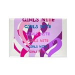 OYOOS girls nite design Rectangle Magnet