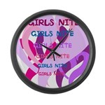 OYOOS girls nite design Large Wall Clock