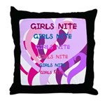 OYOOS girls nite design Throw Pillow